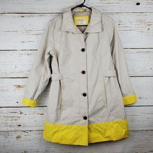 Eddie Bauer Raincoat with Yellow Accent